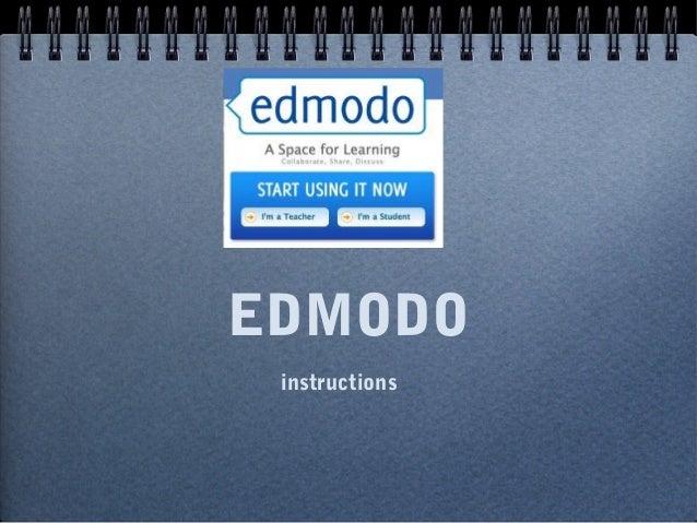 EDMODO instructions