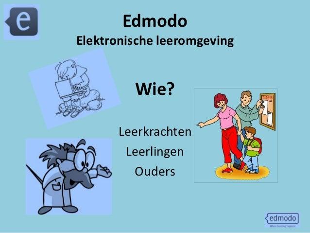 EdmodoElektronische leeromgeving         Wie?      Leerkrachten       Leerlingen         Ouders