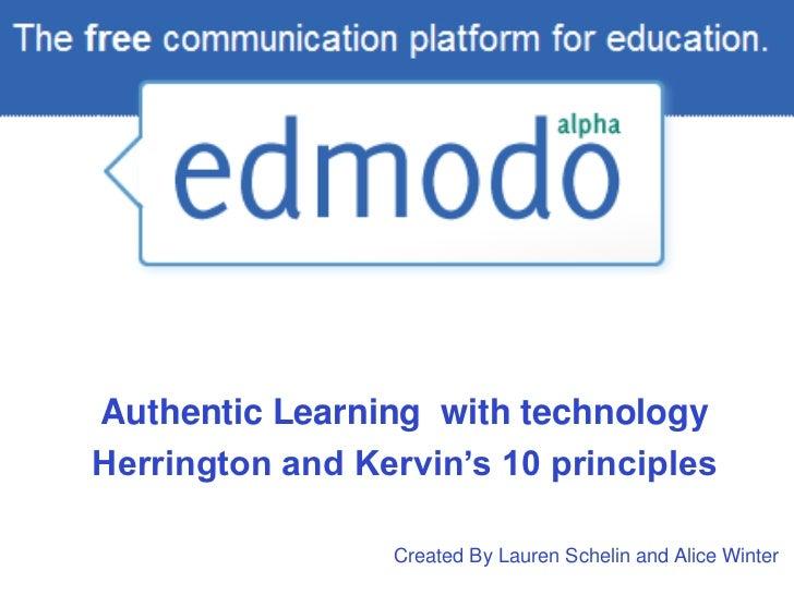 Edmodo and Herrington's 10 Principles