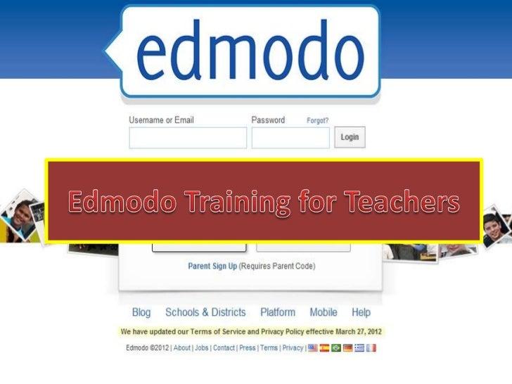 Edmodo training 1 -  edmodo introduction
