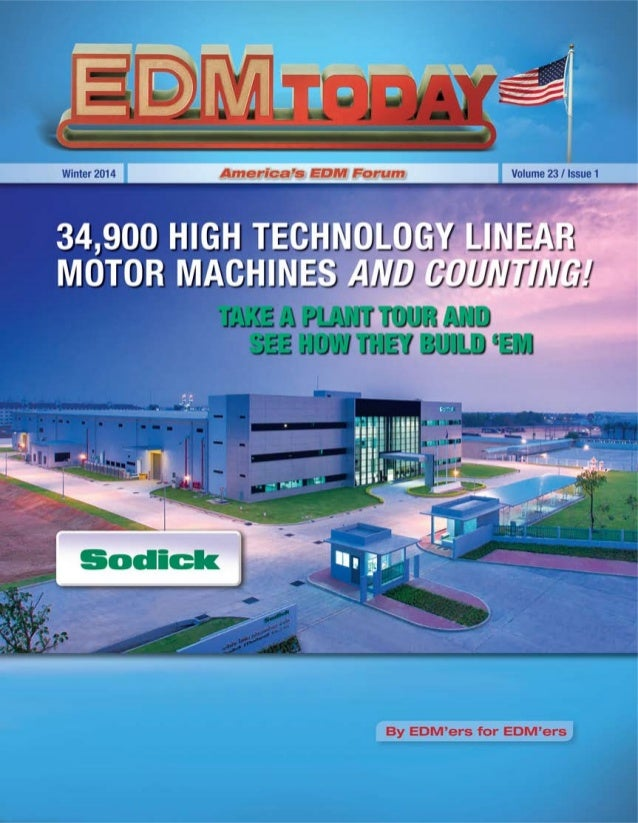 EDM Today - Sodick Factory Article