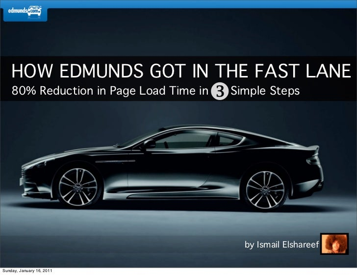 HOW EDMUNDS GOT IN THE FAST LANE    80% Reduction in Page Load Time in   Simple Steps                                    ...