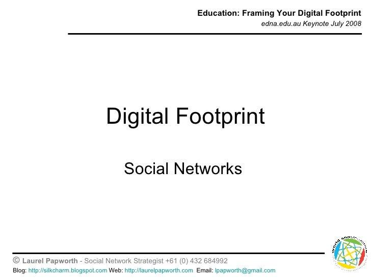 Digital Footprint Social Networks