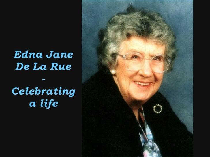 Edna Jane De La Rue