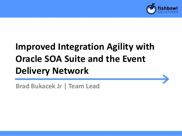 Improved Integration Agility with Oracle SOA Suite and the Event Delivery Network Brad Bukacek Jr | Team Lead