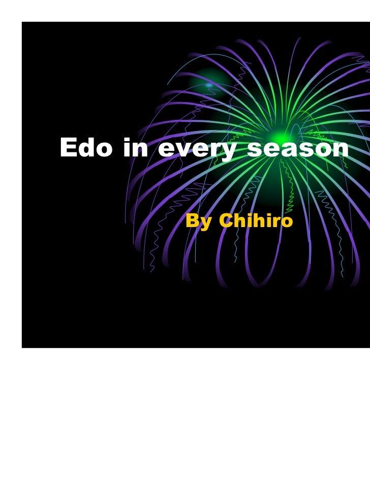 Edo in every season        By Chihiro