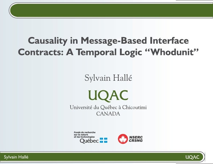 """Causality in Message-Based Interface Contracts: A Temporal Logic """"Whodunit"""""""