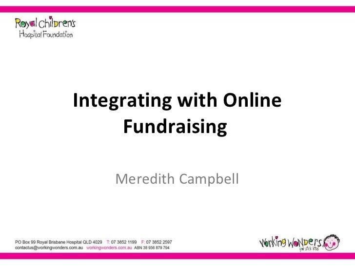 Integrating Offline and Online Fundaising