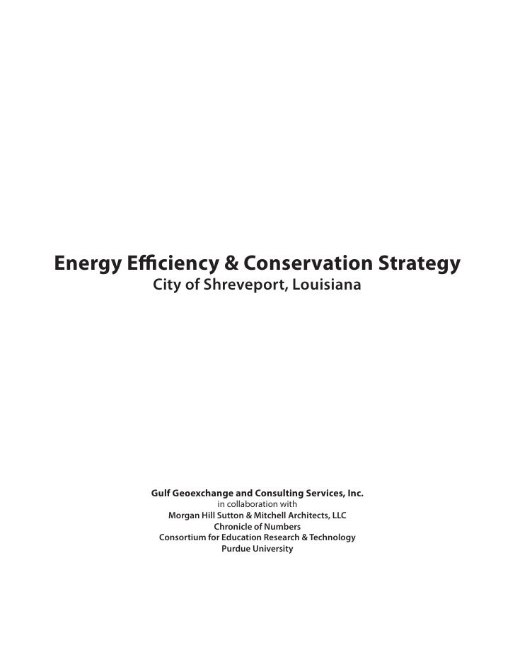 Energy Efficiency & Conservation Strategy          City of Shreveport, Louisiana              Gulf Geoexchange and Consult...