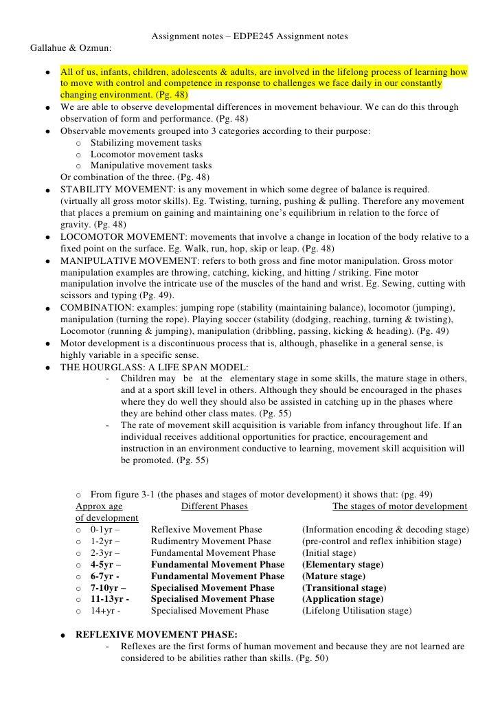Edpe245 assignment 1 reading summary