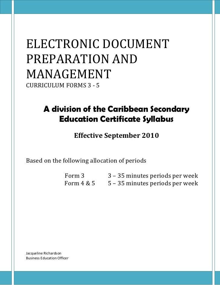 Edpm outline