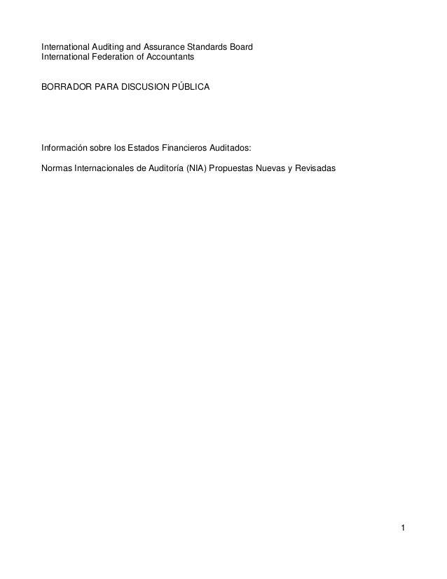 EDP: NIA propuestas nuevas y revisadas