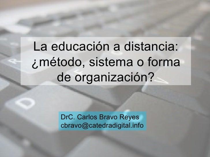Educación distancia. Primera video conferencia