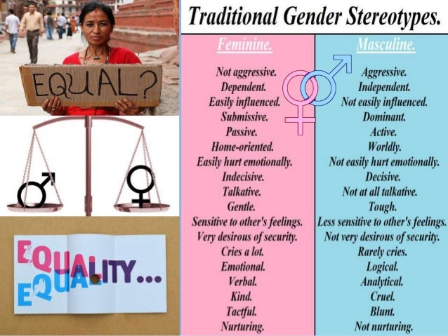 gender stereotypes 5 essay Gender stereotypes: masculinity and femininity 159 7 the sstereotype ttrap newsweek,november 6, 2000 from gender roles to gender stereotypes as chapters 5 and 6 explored, a gender role consists of activities that men and women en.