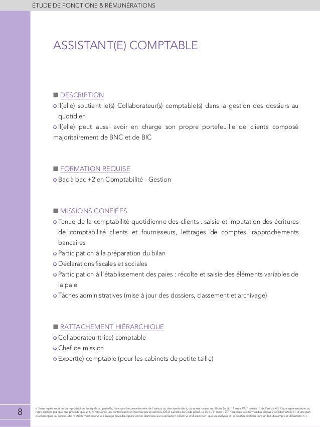 Etude de r mun rations audit conseil expertise 2013 2014 - Classement cabinet expertise comptable ...