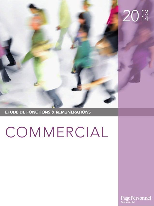 2013 14 ÉTUDE DE FONCTIONS & RÉMUNÉRATIONS COMMERCIAL Commercial