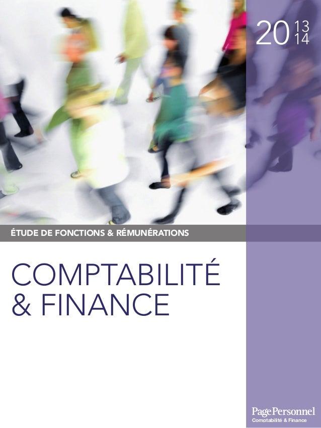 2013 14 ÉTUDE DE FONCTIONS & RÉMUNÉRATIONS COMPTABILITÉ & FINANCE Comptabilité & Finance
