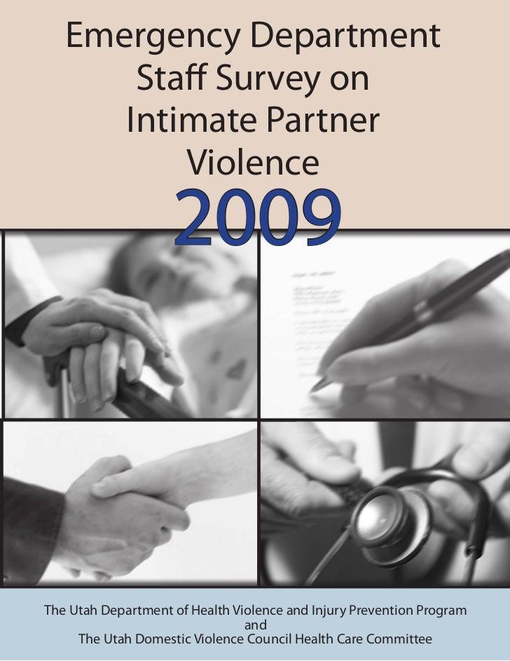 Emergency Department Staff Survey on Intimate Partner Violence