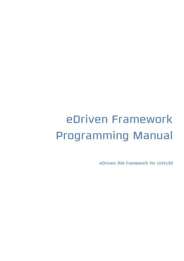 eDriven Framework Programming Manual 1.0