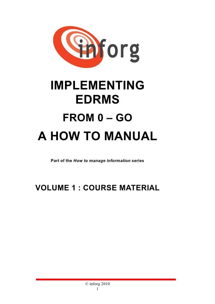 Edrms 0 go v1 course material