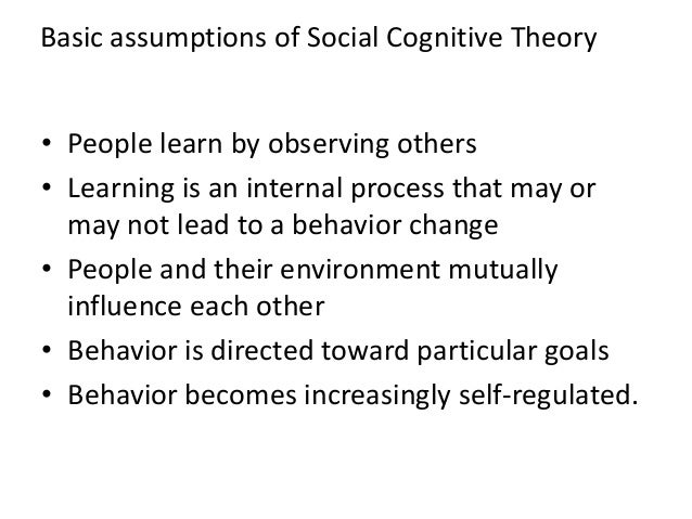 social psychology s key assumptions and their You will need to develop a major understanding of the key approaches in psychology there are three key assumptions in bandura's social for their time freud.