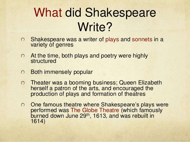 a biography of william shakespeare a great poet and playwright Playwright, poet, actor  biography of william shakespeare  will allow to establish all the nuances of the state of health and lifestyle of the great writer .
