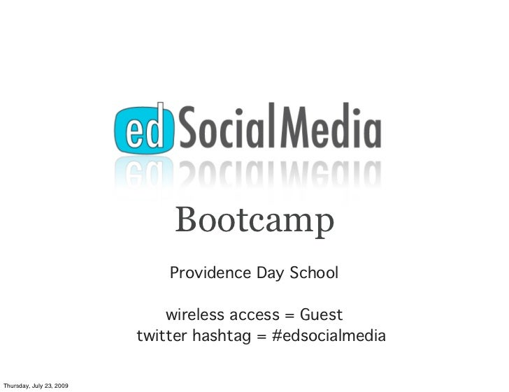 Bootcamp                               Providence Day School                                wireless access = Guest       ...