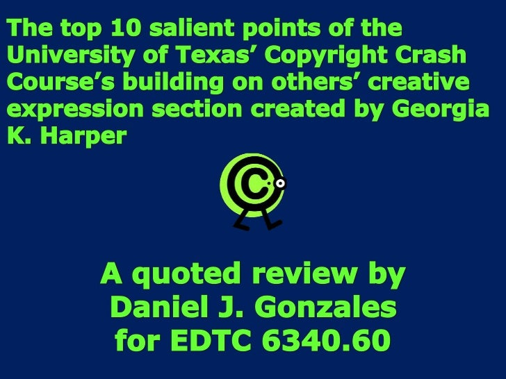 Edtc6340 ccc review by dan j gonzales updated for week 4
