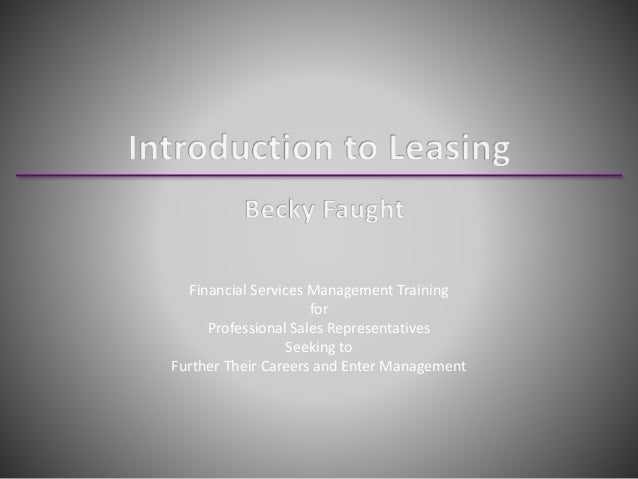 Introduction to Leasing