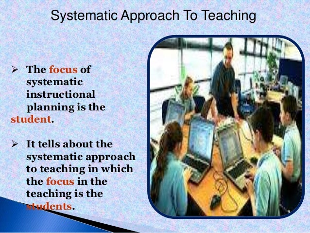 systematic approach to teaching