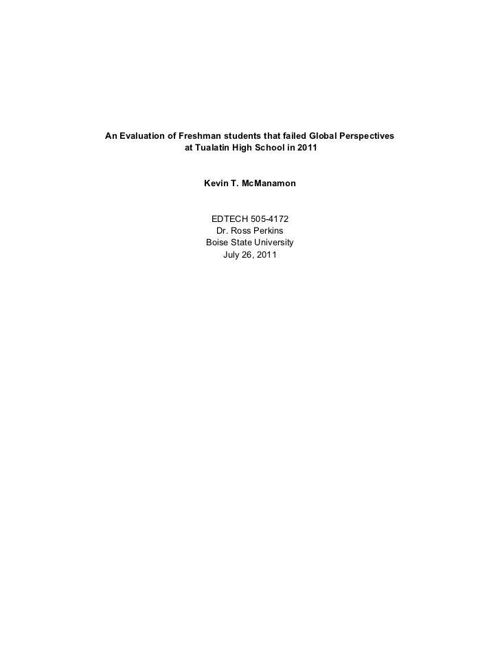 Edtech 505 Evaluation final