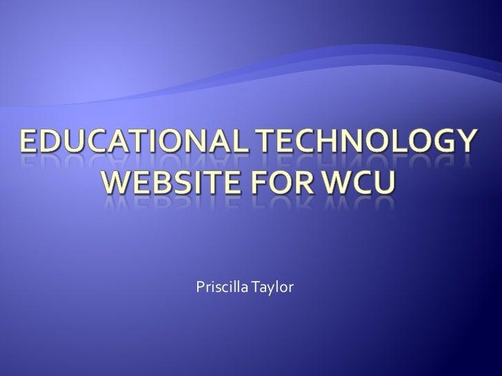 Ed Tech Website WCU