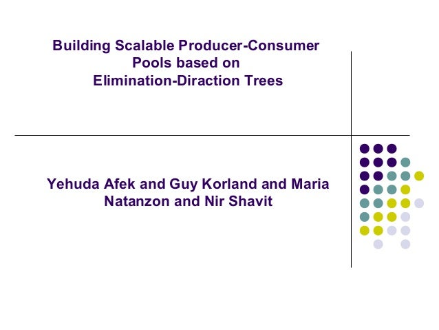 Building Scalable Producer-Consumer  Pools based on Elimination-Diraction Trees