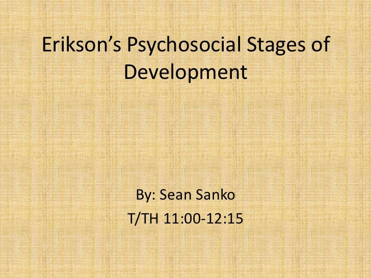 erik erikson psychosocial development reaction paper Erik erikson theory believed in the impact of the significant others in the development of one's view of him, life and of the world he presented a very comprehensive framework of eight psycho-social stages of development.