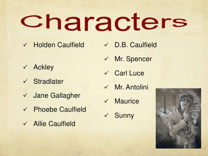 character analysis of holden caulfield in Free essay: character analysis in the beginning of the catcher in the rye, we see one type of person in holden caulfield by the end of the book, we see a.