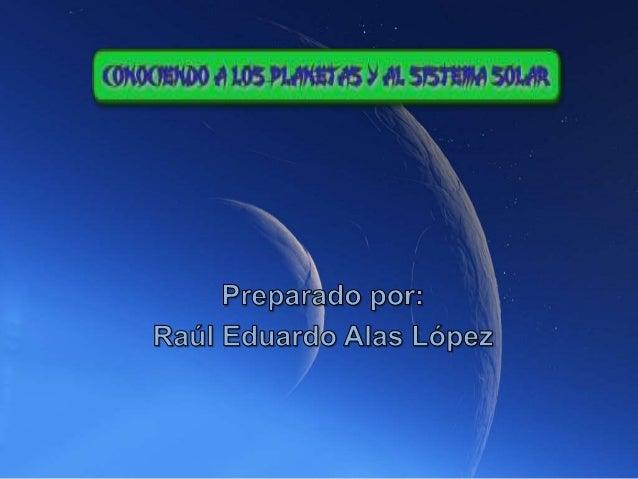 Conociendo los planetas del sistema solar