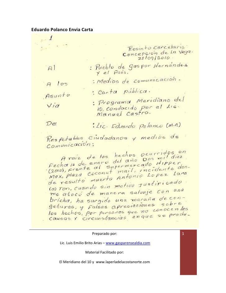 Carta de Eduardo Polanco