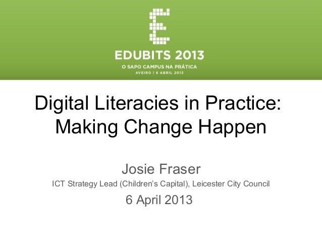 Edubits 2013 - Apresentação de Josie Fraser