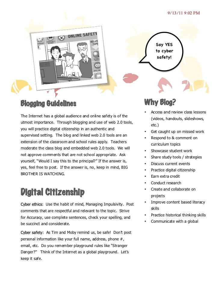 Digital Citizenship & the Class Blog 2011