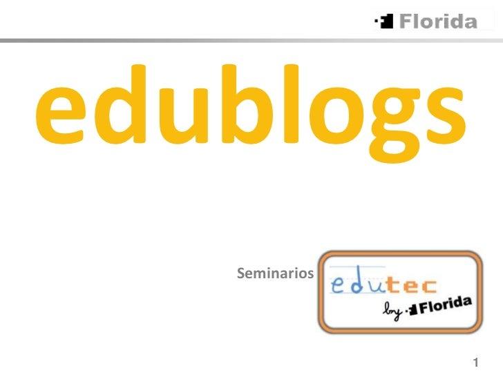 edublogs   Seminarios                1