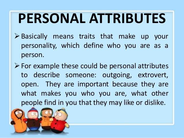 personal attributes essay