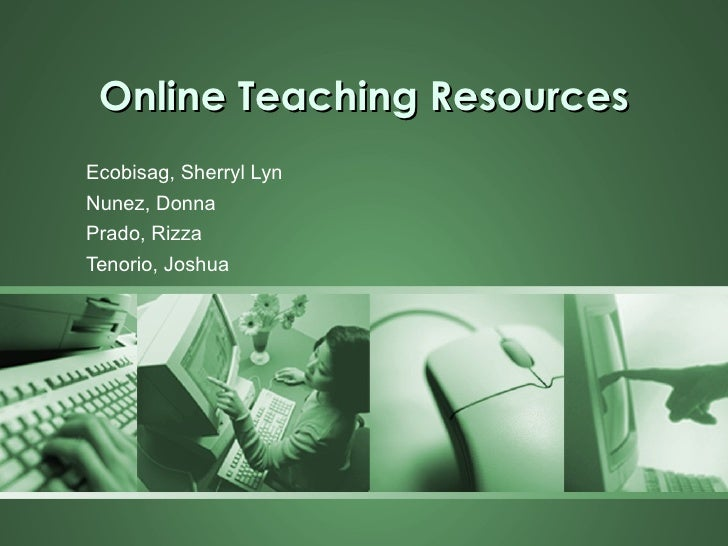 Educ 190 online teaching resources