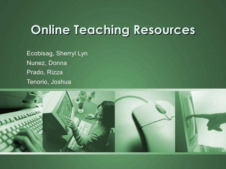 Educ 190 online teaching resources