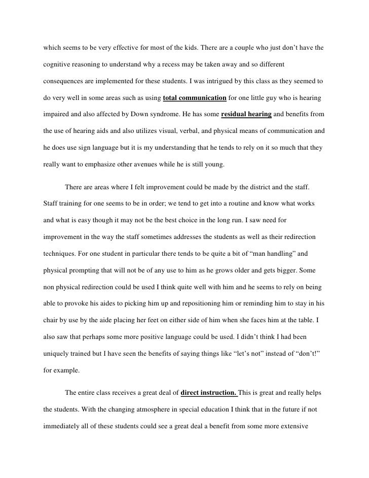 Examples Of Profile Essays