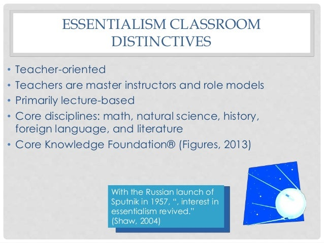 Educational philosophy examples