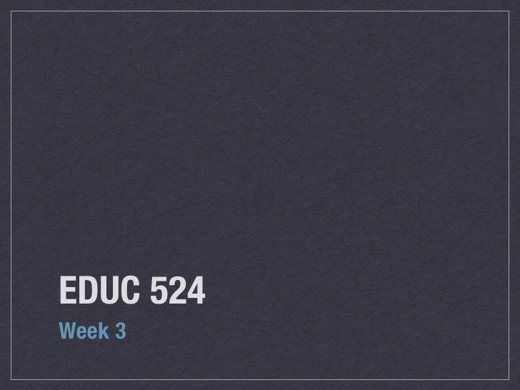 EDUC 524 W2