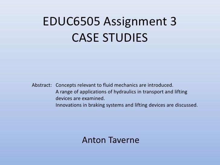 Educ6505 assignment 3 taverne
