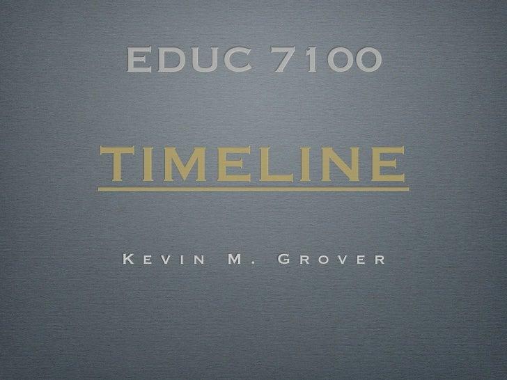 EDUC 7100TIMELINEK e v i n   M .   G r o v e r