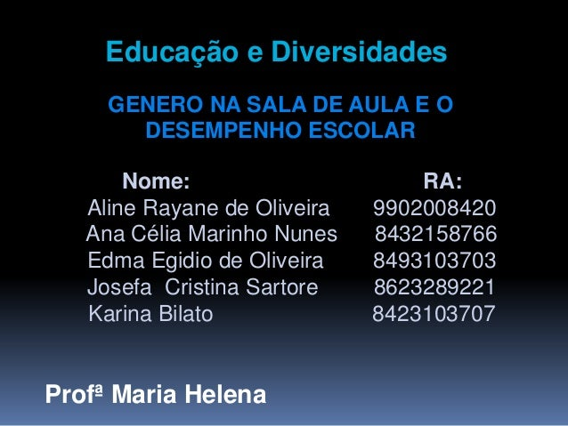 Profª Maria Helena Nome: RA: Aline Rayane de Oliveira 9902008420 Ana Célia Marinho Nunes 8432158766 Edma Egidio de Oliveir...