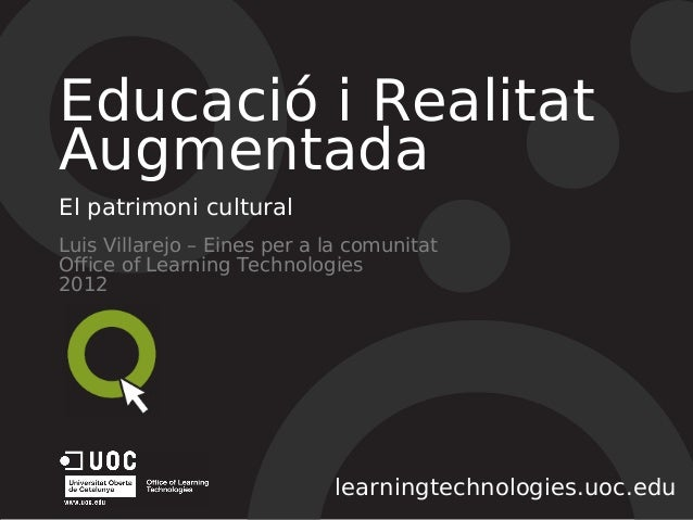 Education and augmented reality: the cultural heritage